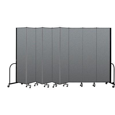 "Screenflex Portable Room Divider 9 Panel, 8'H x 16'9""L, Fabric Color: Gray"