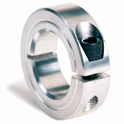 """One-Piece Clamping Collar, 7/16"""", Zinc Plated Steel"""