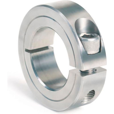 """One-Piece Clamping Collar, 1-1/4"""", Stainless Steel"""