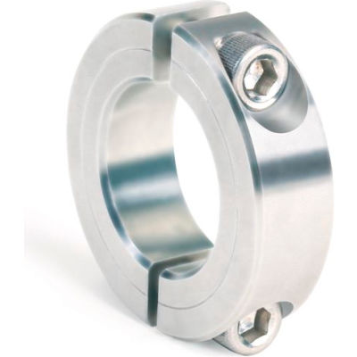 """Two-Piece Clamping Collar, 7/16"""", Stainless Steel"""