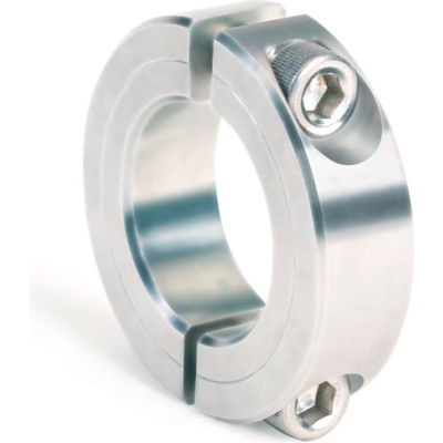 """Two-Piece Clamping Collar, 7/16"""", Zinc Plated Steel"""