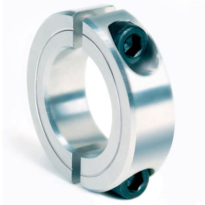 "Two-Piece Clamping Collar, 1-3/16"", Aluminum"