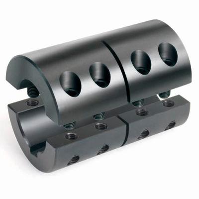 """2-Piece Clamping Couplings Recessed Screw w/Keyway, 1"""", Black Oxide Steel"""