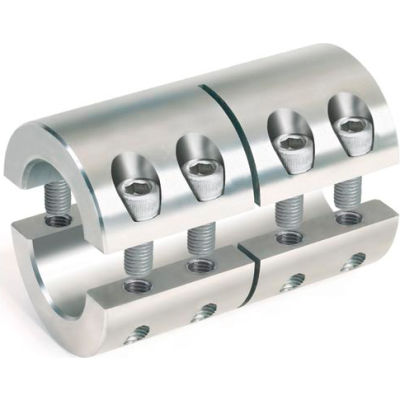 "Two-Piece Industry Standard Clamping Couplings, 3/4"", Stainless Steel"