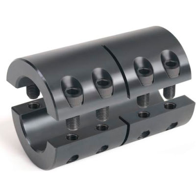 """Two-Piece Industry Standard Clamping Coupling, 1-1/8"""", Black Oxide Steel"""