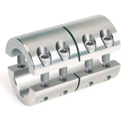 "Two-Piece Industry Standard Clamping Couplings w/Keyway, 2"", Stainless Steel"