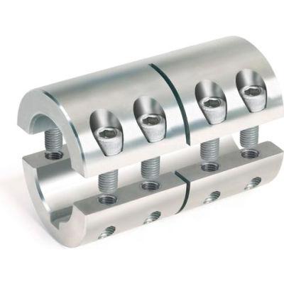 Metric Two-Piece Standard Clamping Couplings w/Keyway, 35mm, Stainless Steel