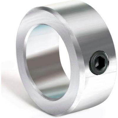 "Set Screw Collar, 1-1/2"", Zinc Plated Steel"