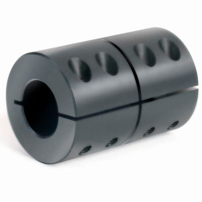 "1-Piece Clamping Couplings Recessed Screw, 1-1/2"", Black Oxide Steel"