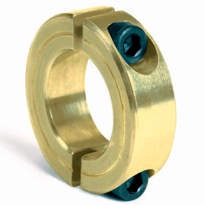 """Corrosion Resistant Two-Piece Clamping Collar CR, 1/2"""", Yellow Zinc Dichromate"""