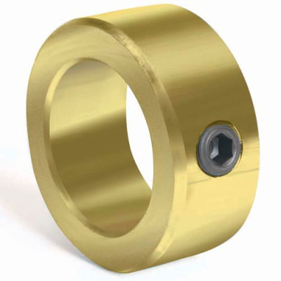 "Corrosion Resistant Set Screw Collar CR, 1/2"", Yellow Zinc Dichromate"