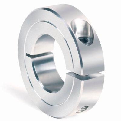 """One-Piece Clamping Collar Recessed Screw, 1/8"""", Aluminum"""