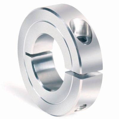 "One-Piece Clamping Collar Recessed Screw, 11/16"", Aluminum"