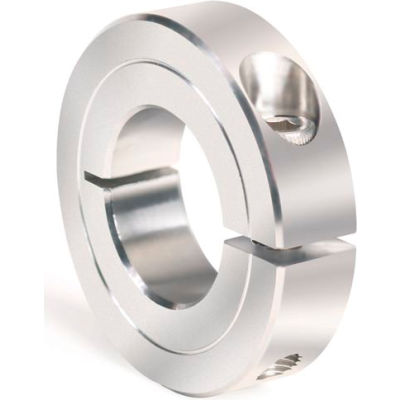 """One-Piece Clamping Collar Recessed Screw, 1-11/16"""", Stainless Steel"""