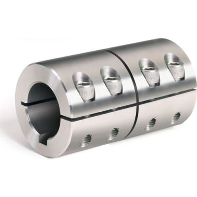 "One-Piece Industry Standard Clamping Couplings w/Keyway, 3/4"", Stainless Steel"
