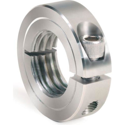 One-Piece Threaded Clamping Collar, Stainless Steel, ISTC-031-24-S