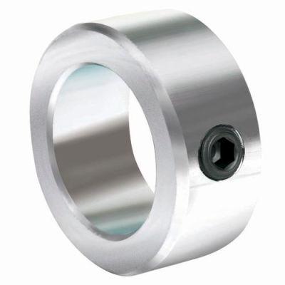 "Lightweight Set Screw Collar L, 1/4"", Zinc Plated Steel"