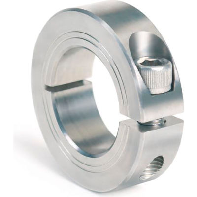 Metric One-Piece Clamping Collar, 25mm, Stainless Steel