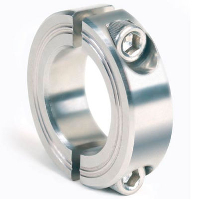 Metric Two-Piece Clamping Collar, 25mm, Stainless Steel