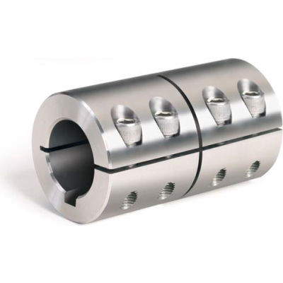 Metric One-Piece Standard Clamping Couplings w/Keyway, 40mm, Stainless Steel