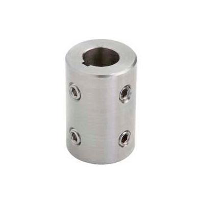 Climax Metal, Metric Set Screw Coupling W/Keyway, MRC-30-SKW4H@90, Stainless Steel, 30mm