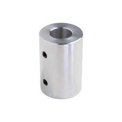 "Climax Metal, Set Screw Coupling, RC-025-A, RC Series, Aluminum, 1/4"" Bore, 1/2""OD"