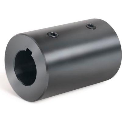 """Set Screw Coupling w/Keyway, 1"""", Black Oxide Steel With Keyway, RC-100-KW"""