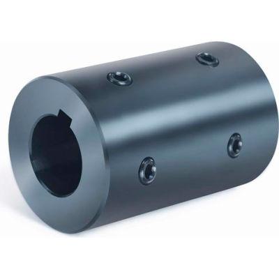 """Rigid Coupling 4 Set Screws 2 @ 90 RC4H-Series, 1-1/2"""", Black Oxide Steel"""