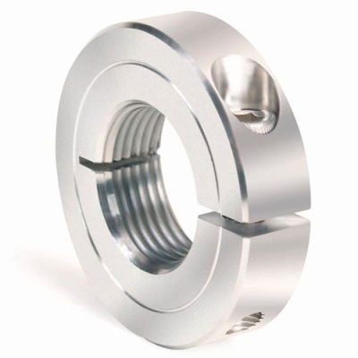 One-Piece Threaded Clamping Collar Recessed Screw, Stainless Steel, TC-037-24-S