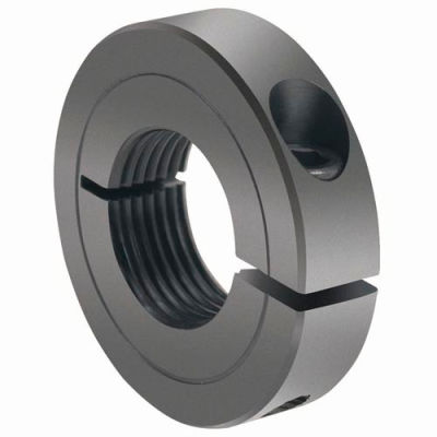 One-Piece Threaded Clamping Collar Recessed Screw, Black Oxide Steel, TC-125-12