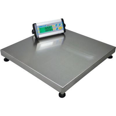"Adam Equipment CPWplus Digital Platform Scale W/Wheels, 440 lb x 0.1 lb, 19-11/16"" Square Platform"