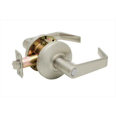 """Copper Creek Avery Grade 2 Cylindrical Lever Privacy, 5""""L x 2-3/4""""H x 2-5/8""""D, Satin Stainless"""