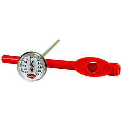 "Cooper-Atkins® Pocket Test Thermometer, 1236-17-1, 1"" Dial, 5"" Stem, Adjusted Sheath-Min Qty 12"