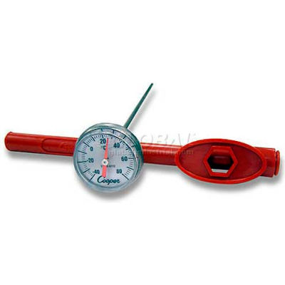 """Cooper-Atkins Pocket Test Therm, 1246-02-1, 1"""" Dial, 5"""" Stem w/Adj. Sheath, Nsf-Min Qty 13"""