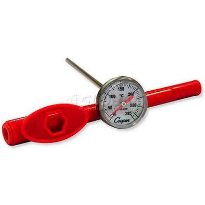 """Cooper-Atkins Pocket Test Therm, 1246-03-1, 1"""" Dial, 5"""" Stem w/Adj. Sheath, Nsf-Min Qty 12"""