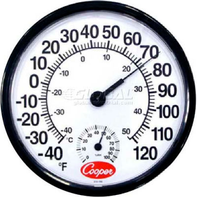 Cooper-Atkins® 212-150-8 - Thermometer, Wall, Temperature/Humidity
