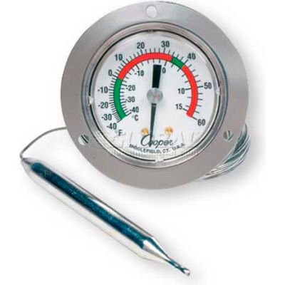 """Cooper-Atkins® Panel Thermometer, 6142-58-3, 2"""" Front Flange, Back Connect - Min Qty 3"""
