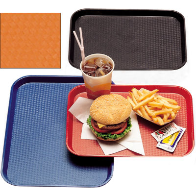 """Cambro 1014FF166 - Tray Fast Food 10"""" x 14"""",  Orange - Pkg Qty 24"""