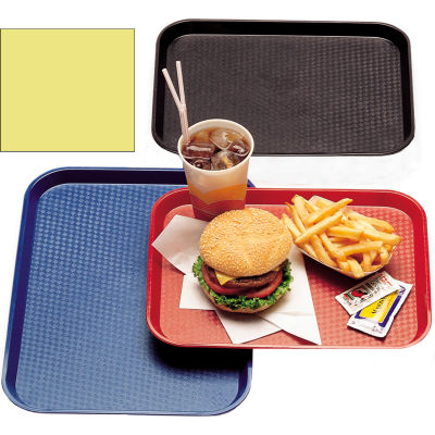 "Cambro 1216FF108 - Tray Fast Food 12"" x 16"",  Primrose Yellow - Pkg Qty 24"