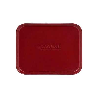 "Cambro 1418522 - Camtray 14"" x 18"" Rectangular,  Burgundy Wine - Pkg Qty 12"