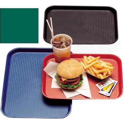 "Cambro 1418FF119 - Tray Fast Food 14"" x 18"",  Sherwood Green - Pkg Qty 12"