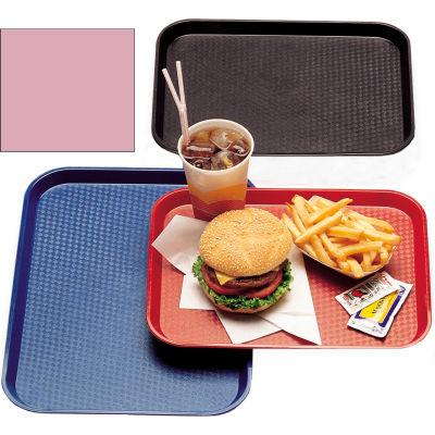 "Cambro 1418FF409 - Tray Fast Food 14"" x 18"",  Blush - Pkg Qty 12"