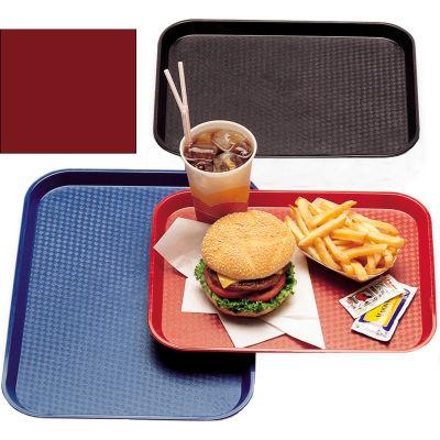 "Cambro 1418FF416 - Tray Fast Food 14"" x 18"",  Cranberry - Pkg Qty 12"