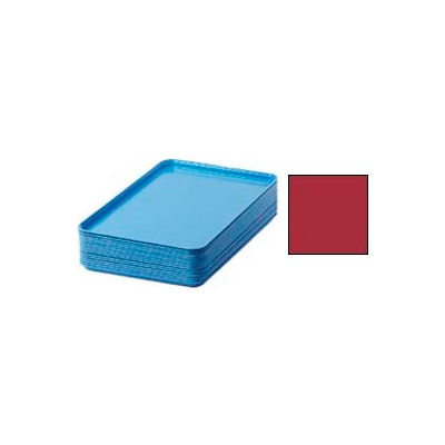 """Cambro 1826221 - Camtray 18"""" x 26"""" Rectangular,  Ever Red - Pkg Qty 6"""