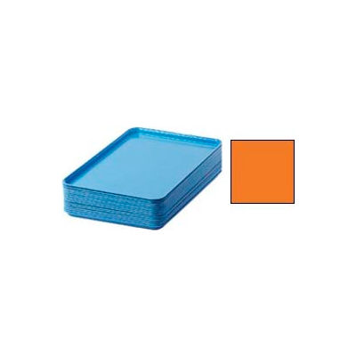 "Cambro 1826222 - Camtray 18"" x 26"" Rectangular,  Orange Pizazz - Pkg Qty 6"