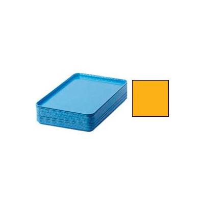 "Cambro 1826504 - Camtray 18"" x 26"" Rectangular,  Mustard - Pkg Qty 6"