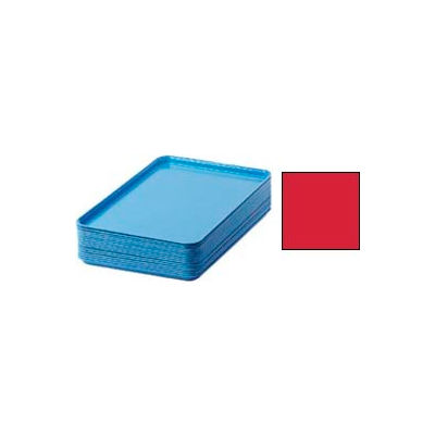 """Cambro 1826510 - Camtray 18"""" x 26"""" Rectangular,  Signal Red - Pkg Qty 6"""