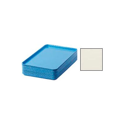 """Cambro 1826538 - Camtray 18"""" x 26"""" Rectangular,  Cottage White - Pkg Qty 6"""
