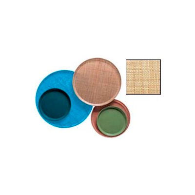 """Cambro 1950204 - Camtray 19.5"""" Round Low,  Rattan - Pkg Qty 12"""