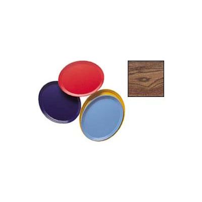 """Cambro 2500304 - Camtray 19"""" x 24"""" Oval,  Country Oak - Pkg Qty 6"""